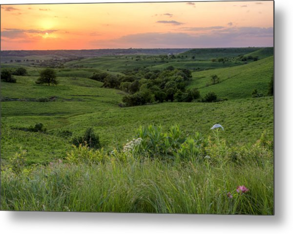 Spring In The Flint Hills Metal Print