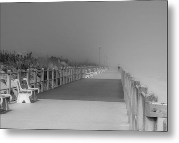 Spring Lake Boardwalk - Jersey Shore Metal Print