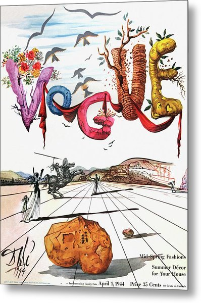 Spring Letters With A Visage Of Dali Metal Print