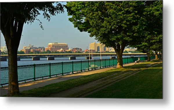 Spring Morning By The Charles River Metal Print