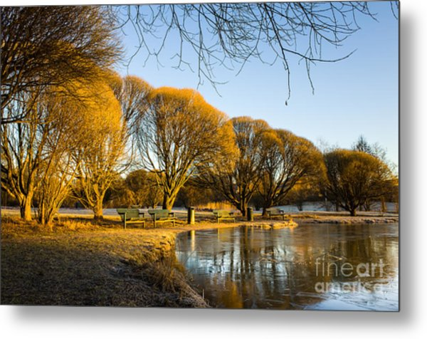 Spring Morning In The Park Metal Print