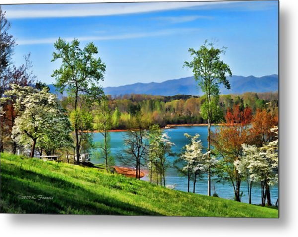 Spring On The Lake Metal Print