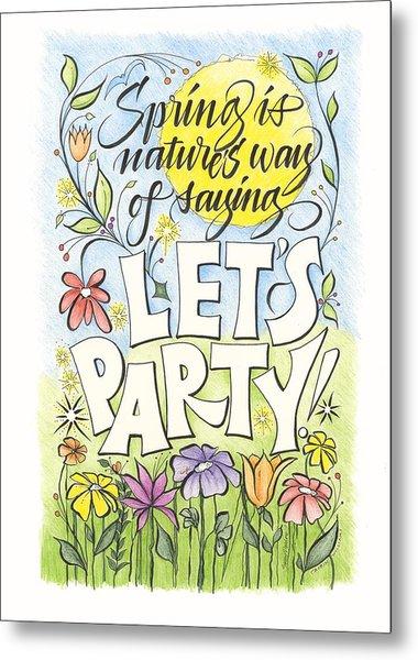 Spring Party Metal Print