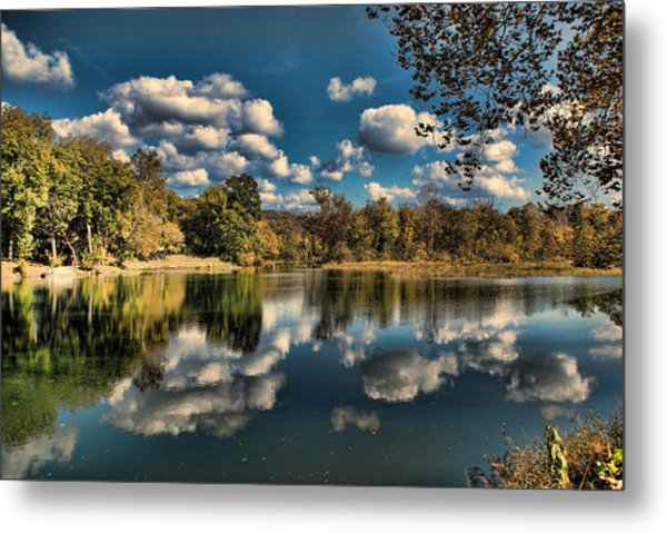 Spring River Autumn Metal Print