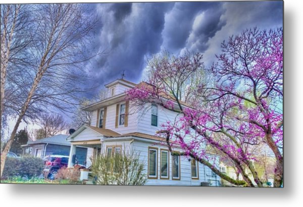 Spring Storm Metal Print by Larry Bodinson