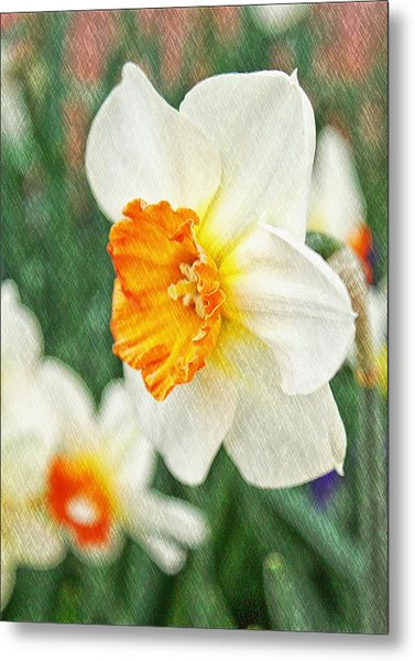 Spring Texture Metal Print by Cathie Tyler