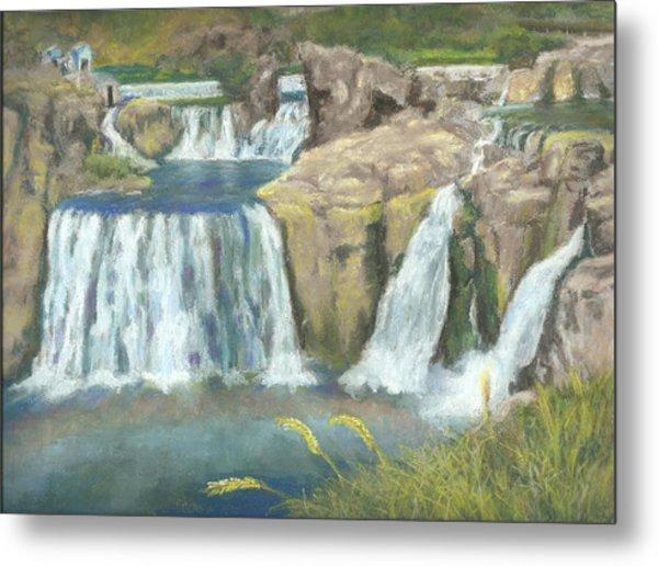 Spring Thaw At Shoshone Falls Metal Print