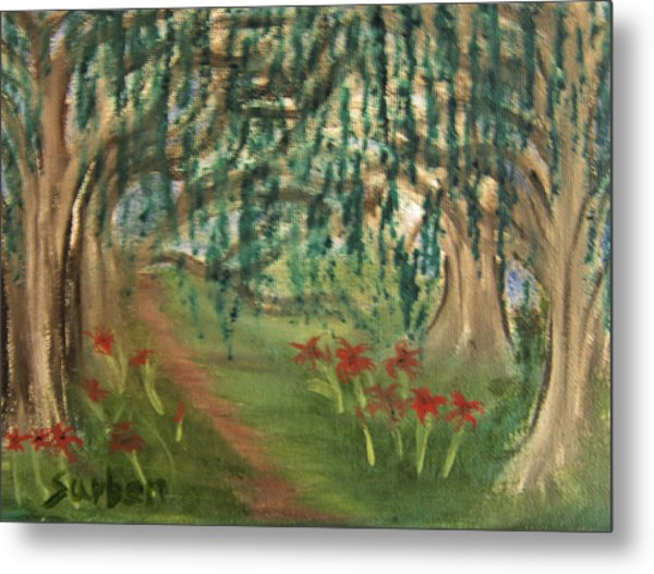 Spring Trail Metal Print