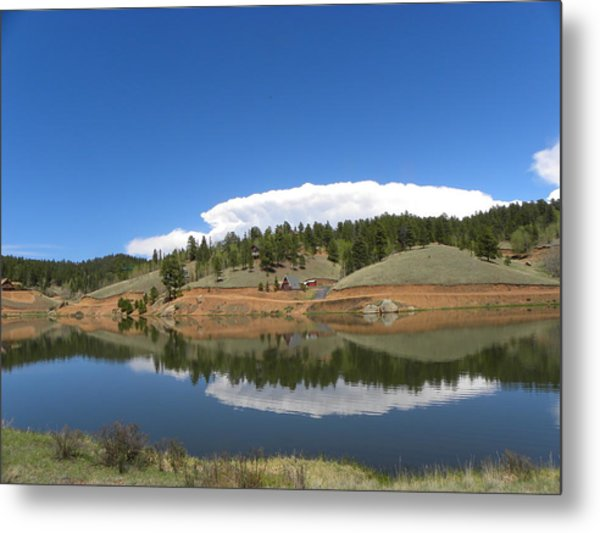 Ridge Over Burgess Res Divide Co Metal Print