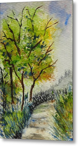 Spring Walk Metal Print by Catherine Arcolio