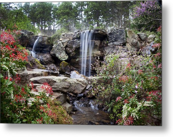 Spring Waterfall Metal Print
