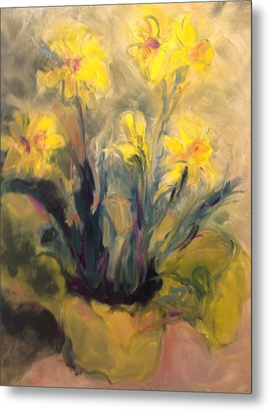 Spring Yellow Metal Print
