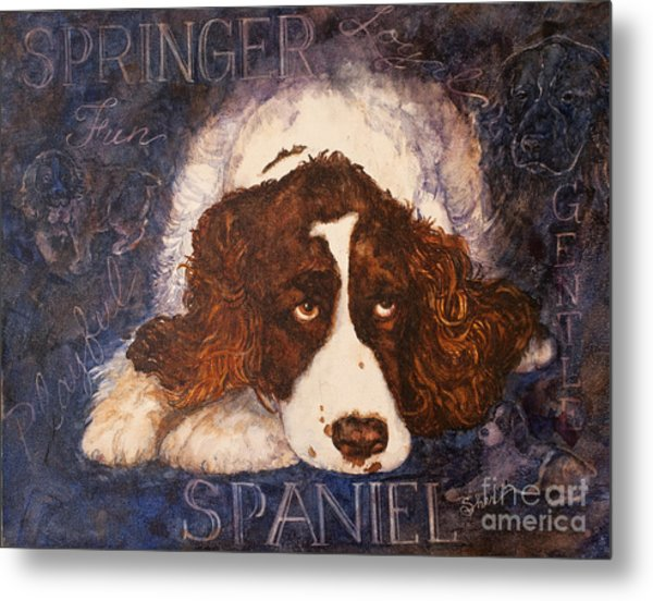 Springer Spaniel - Best Friend Metal Print