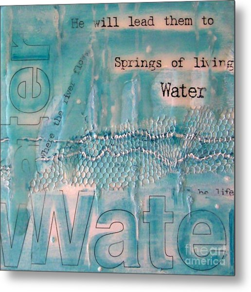 Springs Of Living Water Metal Print