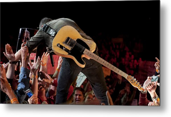 Springsteen In Charlotte Metal Print