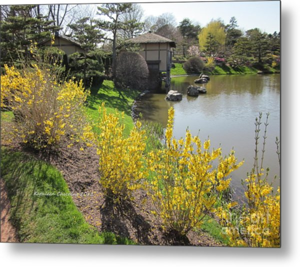 Springtime At The Japanese Gardens Metal Print