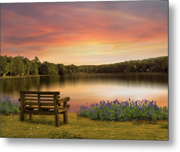 Springtime At The Lake Metal Print