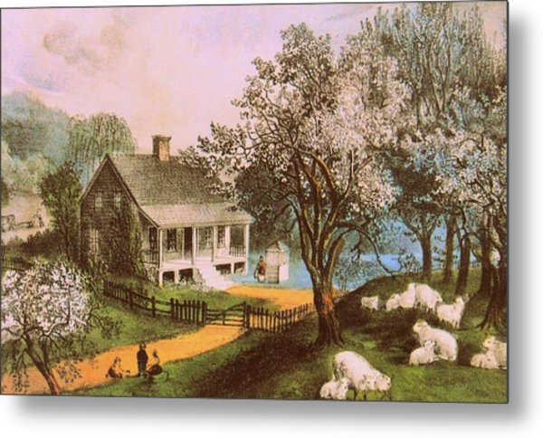 Springtime In New England Metal Print by JAMART Photography