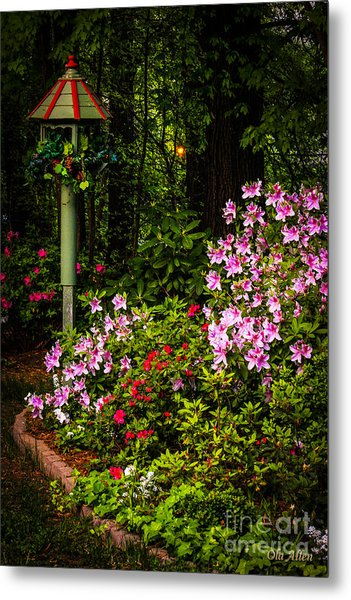 Springtime In The Garden  Metal Print