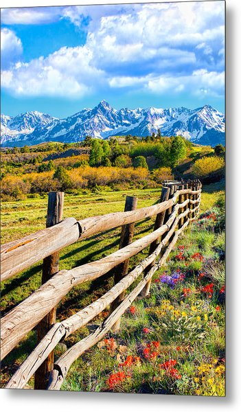 Springtime In The Rockies Metal Print