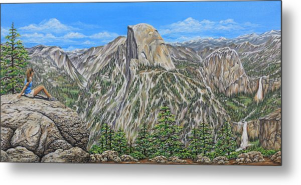 Springtime In Yosemite Valley Metal Print