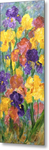 Springtime Iris Metal Print