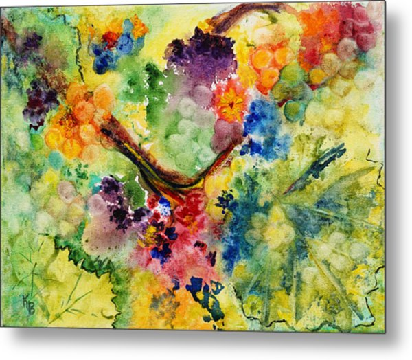 Metal Print featuring the painting Springtime by Karen Fleschler