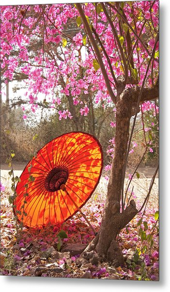 Springtime Umbrella Metal Print