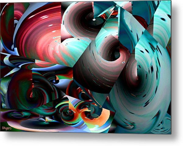 Spun Energy Metal Print