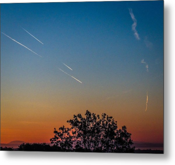 Squadron Of Jet Trails Over Ireland Metal Print