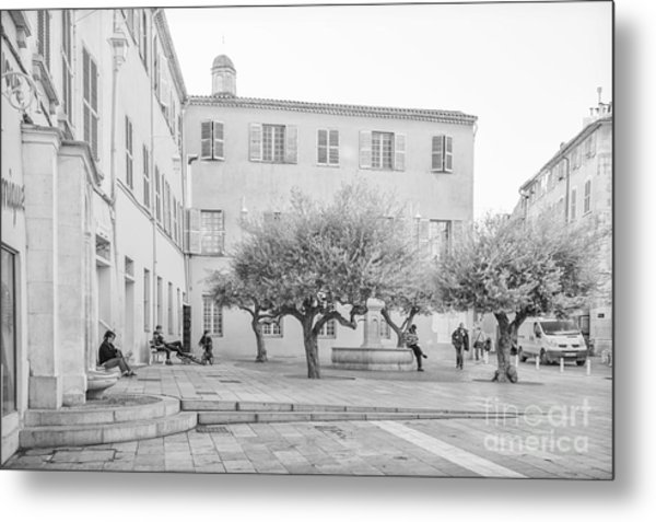 Square Life In Provence Metal Print
