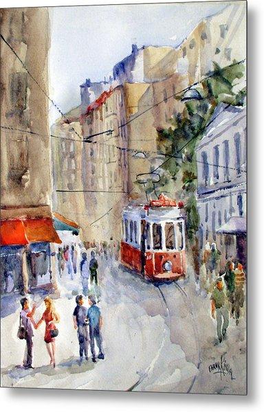 Square Tunel - Beyoglu Istanbul Metal Print