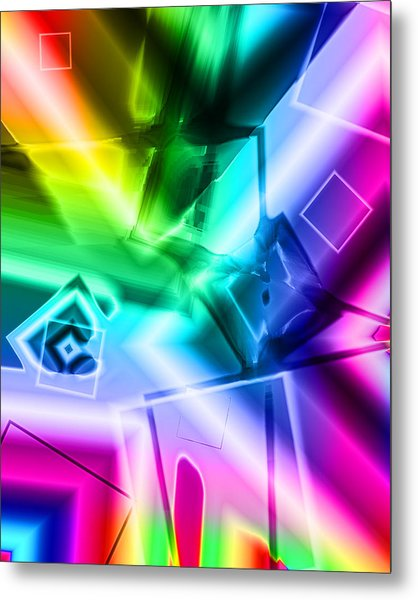 Squares Metal Print by Lola Connelly