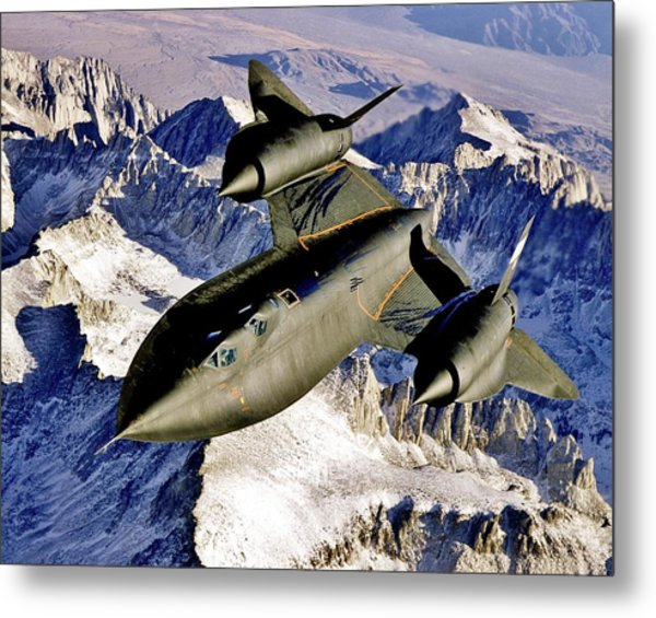 Sr-71 Over The Sierras Metal Print