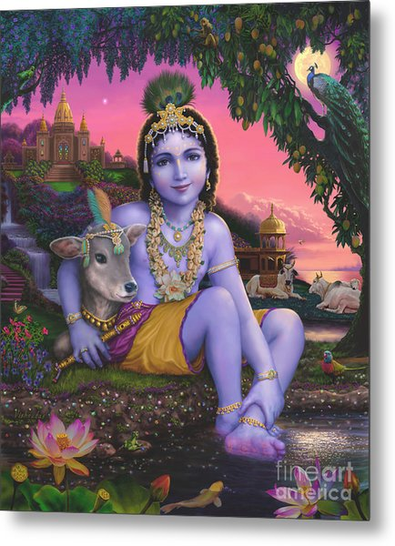 Sri Krishnachandra Metal Print