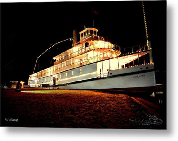Ss Sicamous Frontview 1/21/2014  Metal Print