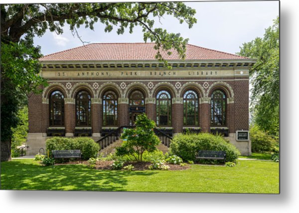 St Anthony Park Library Metal Print