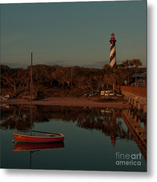 St. Augustine Lighthouse Beach Early Morning Color Metal Print