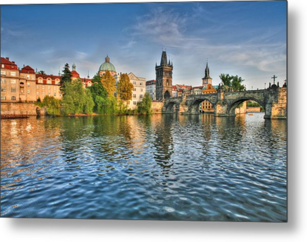 St Charles Bridge Prague Metal Print