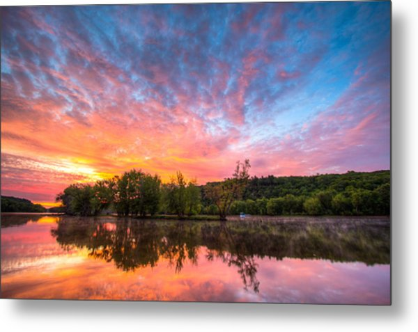 St. Croix River At Dawn Metal Print