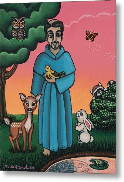 St. Francis Animal Saint Metal Print