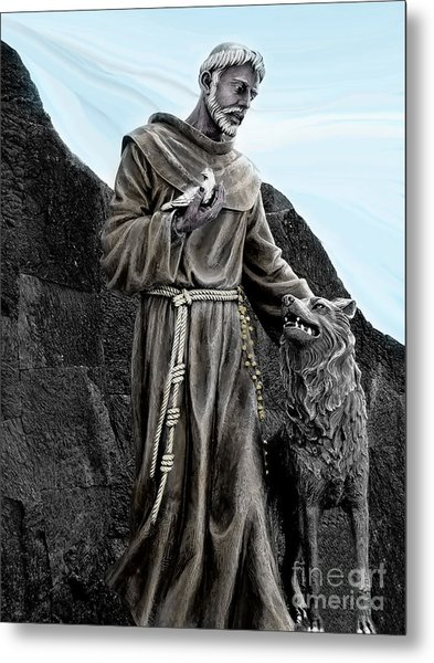 St Francis Of Assisi On Isabela In The Galapagos Metal Print