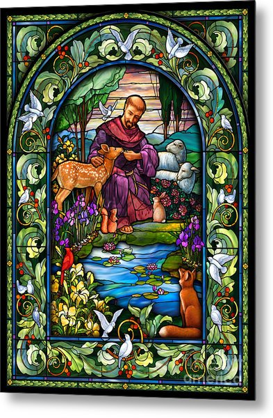 St. Francis Of Assisi Metal Print