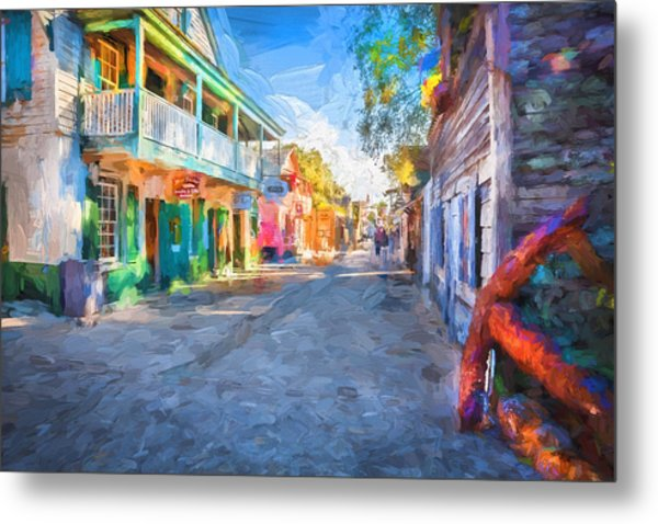 St George Street St Augustine Florida Painted Metal Print