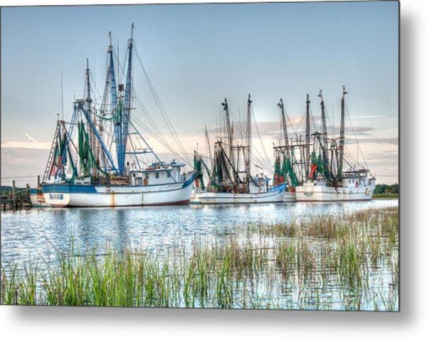 St. Helena Island Shrimp Boats Metal Print