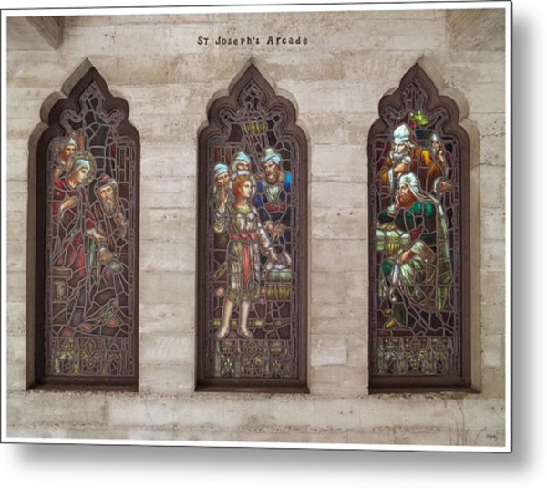 St Josephs Arcade - The Mission Inn Metal Print
