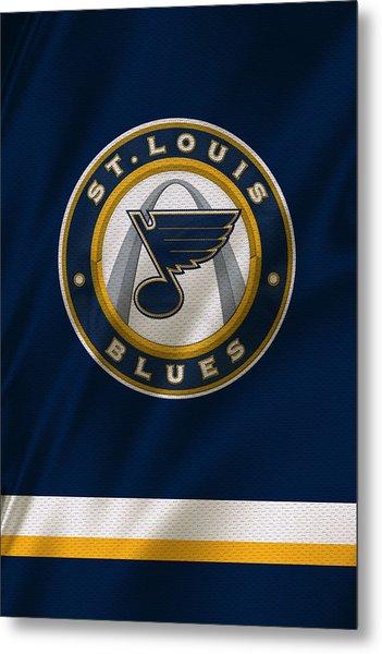 St Louis Blues Uniform Metal Print