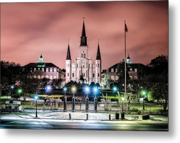 St. Louis Cathedral In The Morning Metal Print