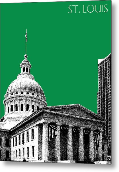 St Louis Skyline Old Courthouse - Forest Metal Print