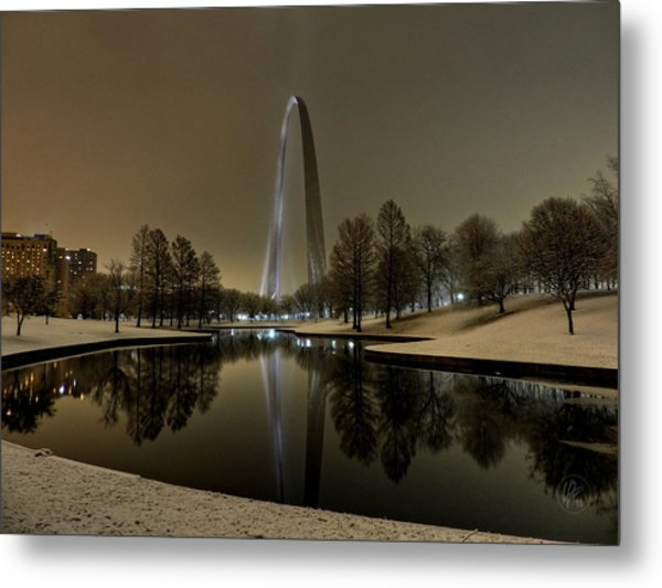 St. Louis - Winter At The Arch 004 Metal Print